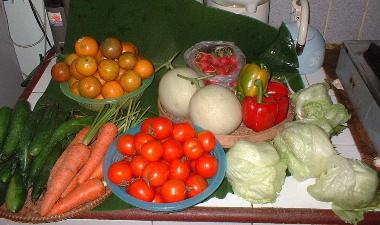 チェンダオ火曜市は野菜が安い
